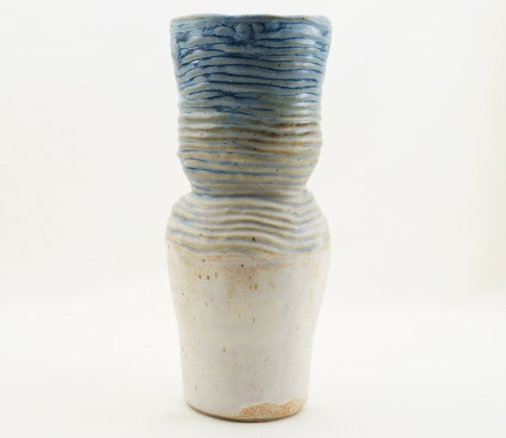 Beautiful Ceramic Vase Rustic Home Decor Handmade Coiling