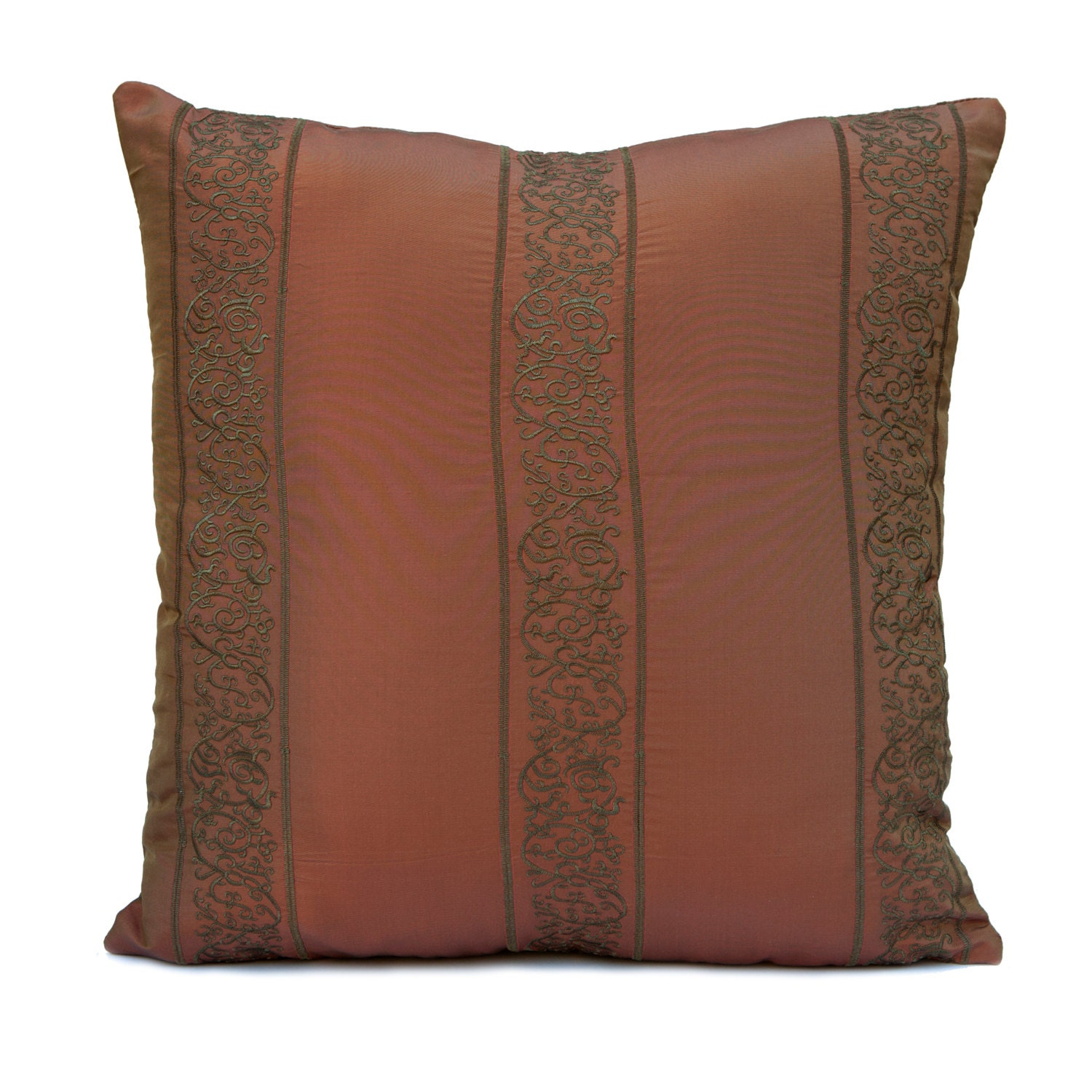 Throw Pillow Rust : Copper Rust Pillow Throw Pillow Cover Decorative Pillow