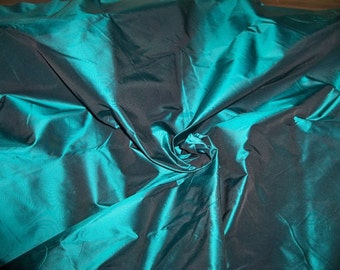 SCHUMACHER BOTTICELLI Silk TAFFETA Fabric 30 Yard Bolt  Aegean Teal