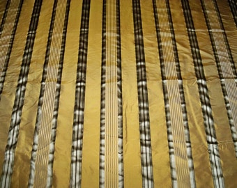 STROHEIM & ROMANN MELROSE Silk Satin Stripes Fabric 10 yards