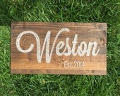 Last Name with Established Date, Wedding Gift, MADE TO ORDER