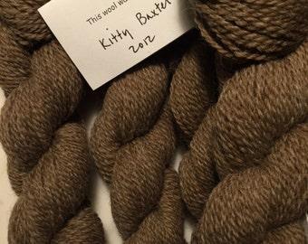Brown Yarn 150 yard skein 2 ply worsted: All Natural Shetland Wool