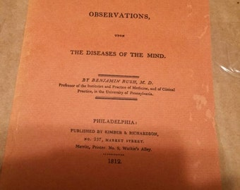 Medical Inquiries, Observations.  The Diseases of the Mind