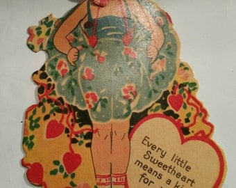 Vintage Valentine Card Every Little Sweetheart