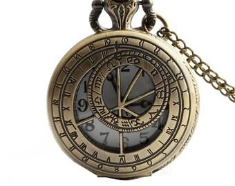 1pcs/ 35mm ,Retro Constellation Compass pocket watch Necklace,Necklace Pendant,craft supply BM-35