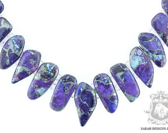Mohave Purple TURQUOISE Multi Layered 925 SOLID Sterling Silver Necklace