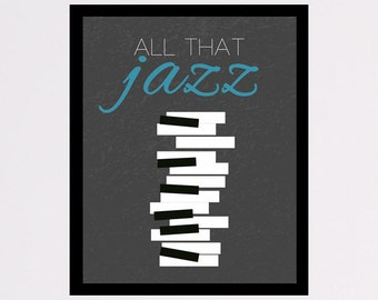 All That Jazz Poster, printable wall art decor / poster All that Jazz, Bob Fosse digital typography poster for home decor, instant download