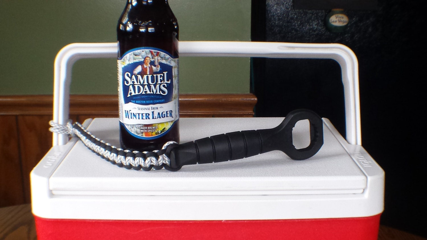 cooler buddy ka bar bottle opener with paracord by braidrunners. Black Bedroom Furniture Sets. Home Design Ideas