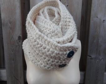 Crochet button up cowl