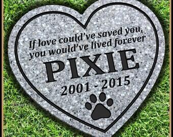 Pet Memorial Grave Marker Headstone Dog Cat Horse Gravestone Personalized Engraved Garden Stone Memorial Stone