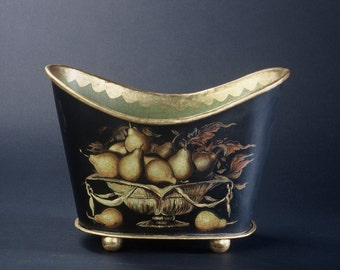 Pears in Gilded Bowl Jardiniere