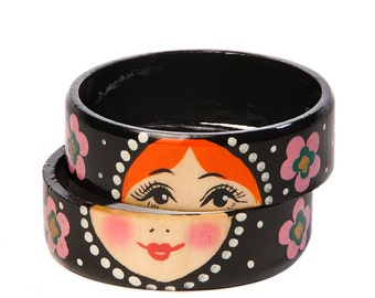 Fabulous two-pieces matryoshka bracelet