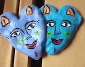 Mexican Folk Art Hearts