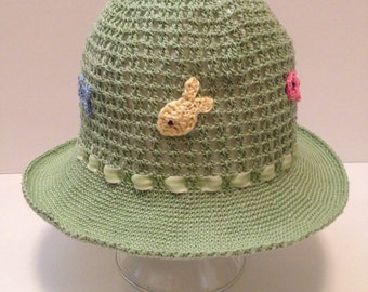 Crochet Sun Hat / Panama for a boy or a girl  Perfect for summer!
