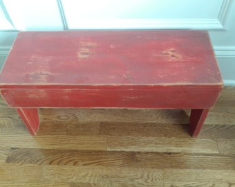 Primitive Red Bench