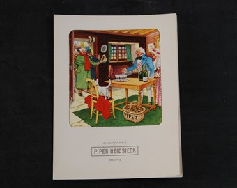 Selection of bar and wine advertising menu sheets, French vintage - 10  items, wine and champagne ephemera