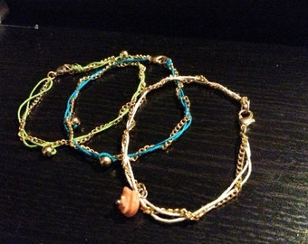 Akie - Gold Braid Anklet or Bracelet