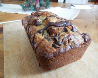 Banana Chocolate Chip Bread-Homemade