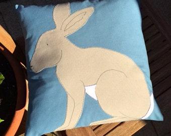 "Rabbit Cushion (14x14"")"