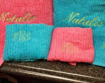 Single personalized Wash Cloth