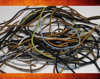BIG SALE Leather Surplus Special! 50 Assorted Leather Thong Cords for leatherwork, costumes, and crafts. #LET-002