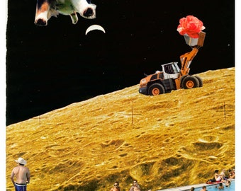 Moon Pool - Collage print
