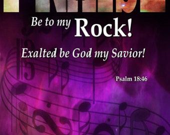 Praise be to My Rock / Church or Personal Banners for Your Home or Office (G1915-1)