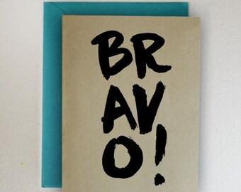 BRAVO! Graduation Card