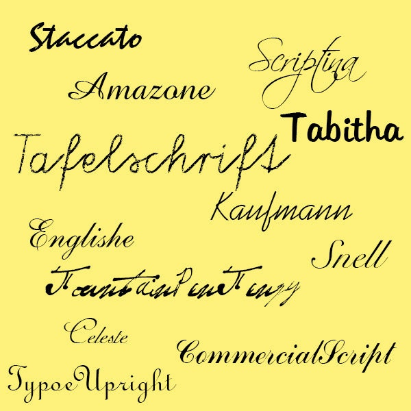 Download Cursive Font Pack 12 Quality TrueType Fonts For Personal