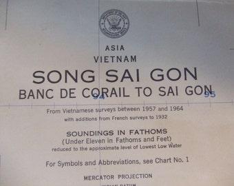 Song Sai Gon ~ Banc De Corail to Sai Gon - Vietnam - Asia - Nautical Chart #6308B