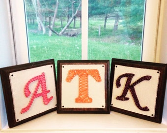 Monogram string art blocks