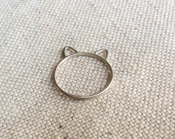 Cat Ring - Kitty Ring - Silver Cat Ring - Sterling Silver Cat Ring - Kitty Cat Ring - Sterling Cat Ring - Cat Ring Silver