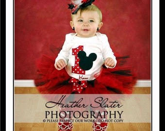 Mickey Mouse/ Minnie Mouse Birthday Tutu set