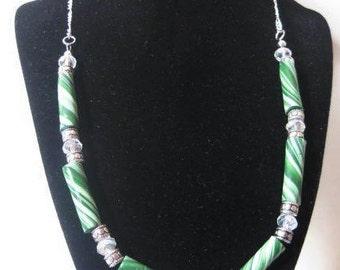 Green Spiral Necklace