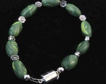 Handmade Beaded Bracelet-Green
