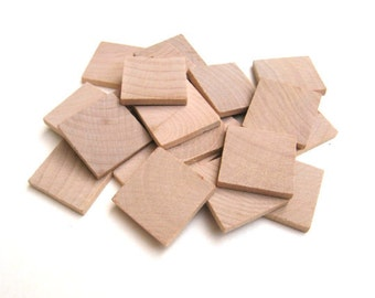 1.5 Inch Unfinished Wooden Square Cutout (set of 9) LVLB1-010