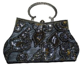 Grey Gladstone style Evening Bag