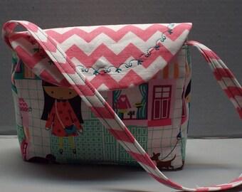 Toddlers Girls Purse Michael Miller La Boutique Fabric