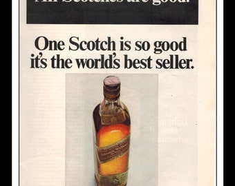 "Vintage Print Ad November 1967 : Johnnie Walker Red Scotch Wall Art Decor 8.5"" x 11"" Advertisement"