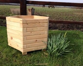 50cm Hexagon Wooden Planter