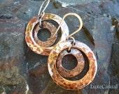 Copper Earrings  | Round Earrings | Dangle Earrings | Copper Jewelry | Copper Anniversary