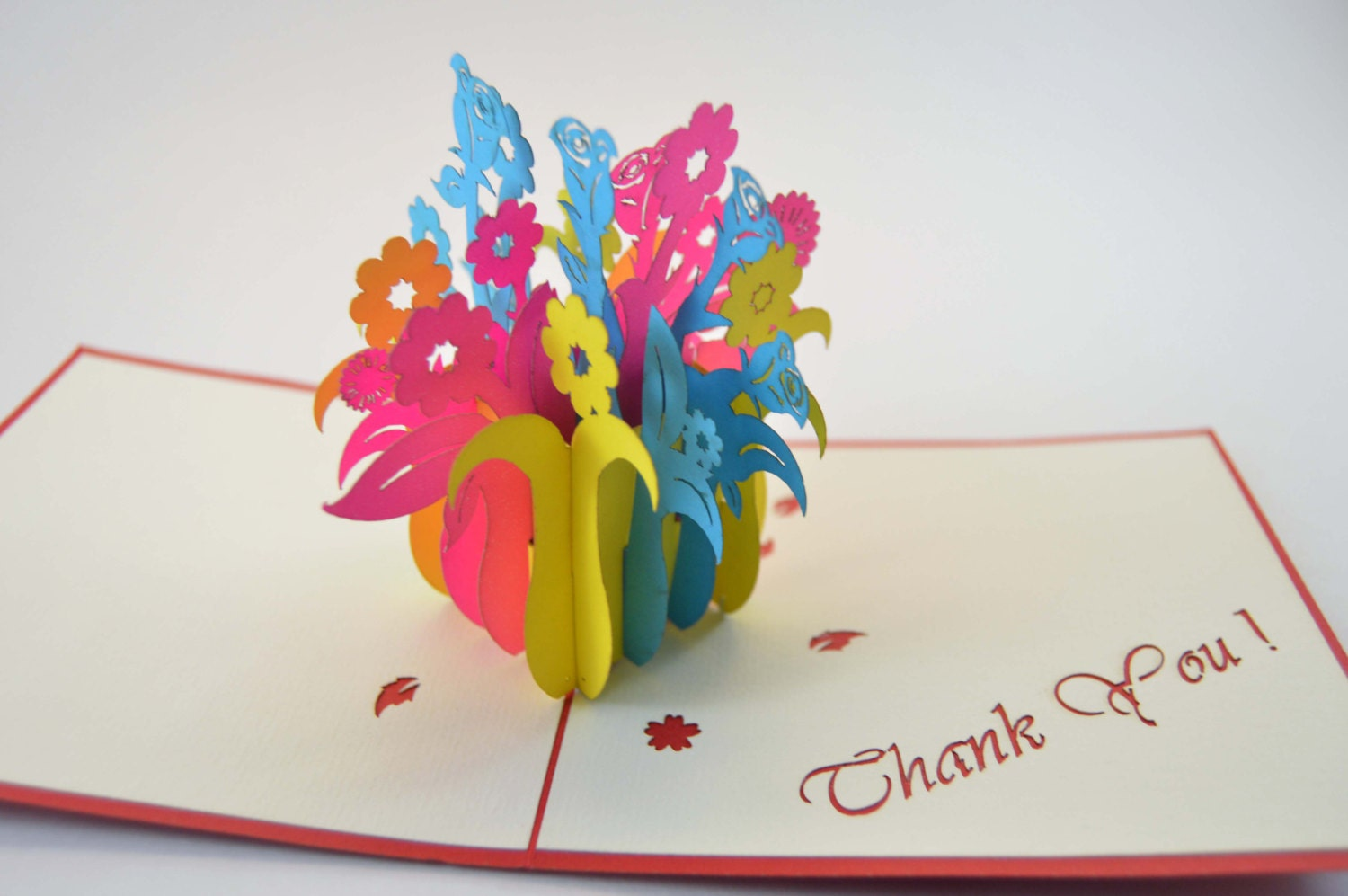 3d Cards Thank You Card Flower Box Card Pop Up Card 3d