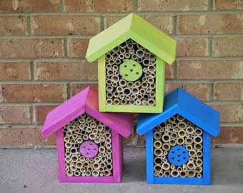 Solitary Bee houses - Bamboo Pine or Cedar style