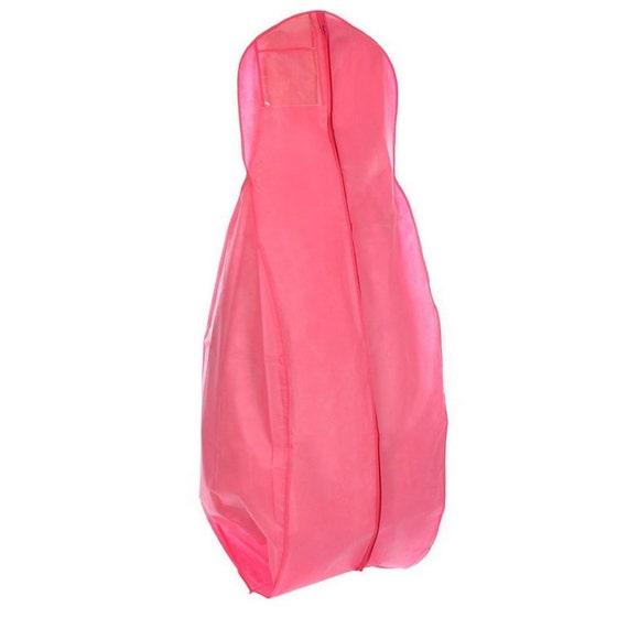x large breathable hot pink wedding gown garment bag big bag. Black Bedroom Furniture Sets. Home Design Ideas
