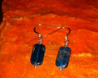 Blue Apatite Dangle Earrings