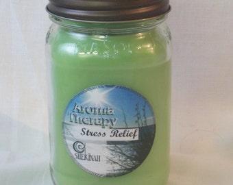 Stress Relief 15 oz  Mason Jar Candle Shekinah Candles