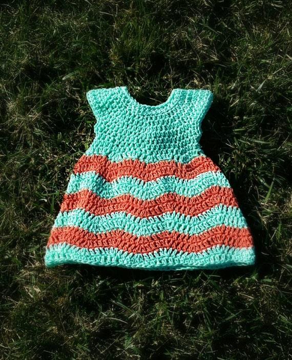 Crochet Chevron Baby Dress Pattern : Crochet Chevron Baby Dress