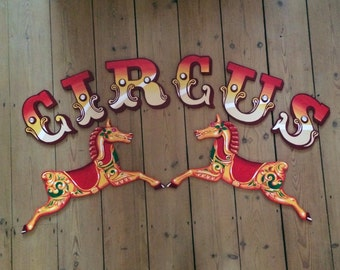 fairground-style wooden lettering - your names / words / letters. Bespoke hand painted, traditional