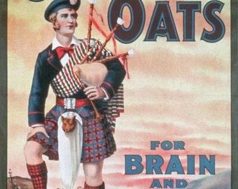 AD39 Vintage Scotch Oats Porridge Advertising Advertisment Poster Re-Print Wall Decor A3/A4