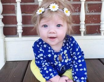 Daisy Halo, Headband with Daisies, Daisy Flower Headband